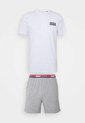 JACLOUNGE SHORT SET - Pyjama set - light grey melange/white