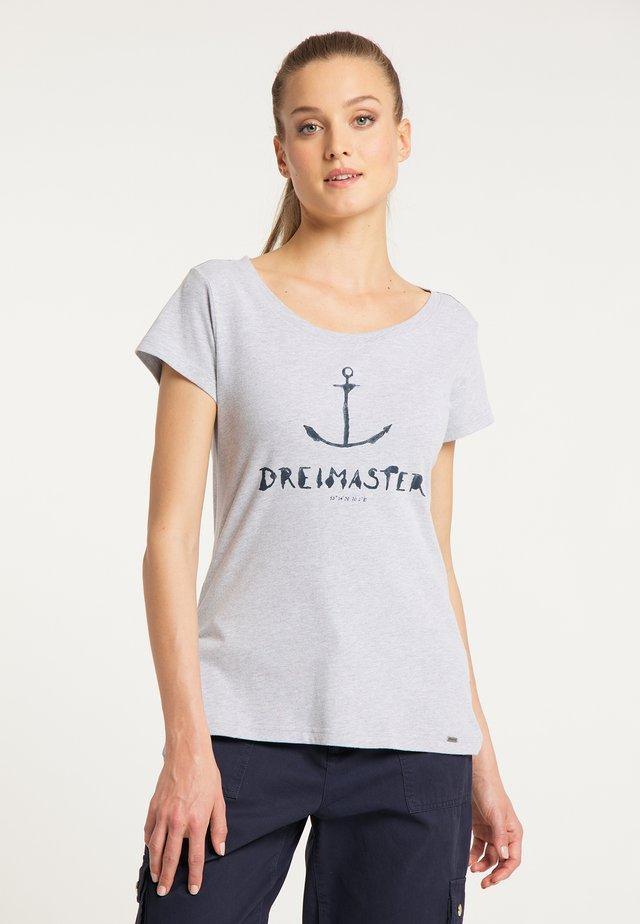 T-SHIRT - T-shirt print - hellgrau melange