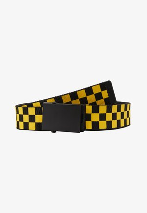 ADJUSTABLE CHECKER BELT - Ceinture - black/yellow