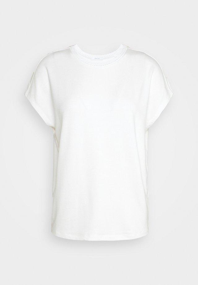SUDELLA CROCHET - T-shirt print - milk