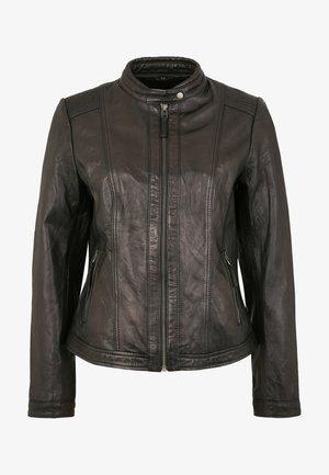 URSEL - Leather jacket - black