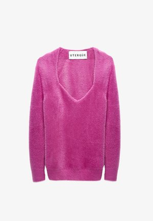 Svetr - neon pink