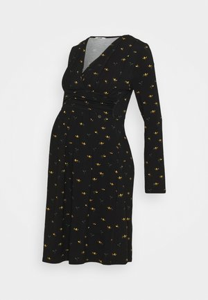 DRESS NURSING FLOWERS - Jersey dress - black