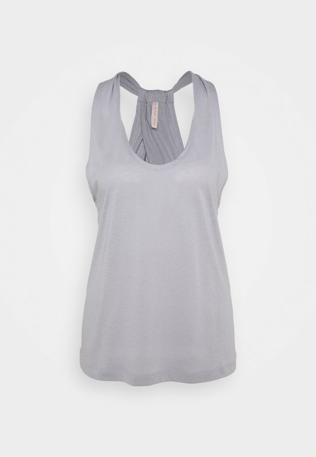 TWIST LAYER TANK - Top - silver grey