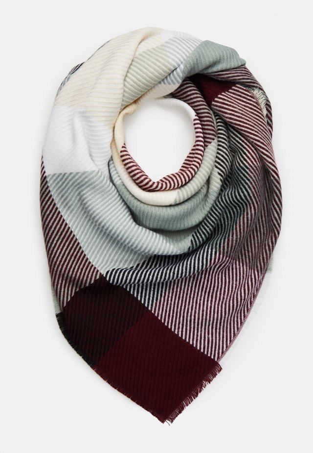 Scarf - bordeaux/green