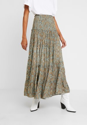 SKIRT LONG - Maxi skirt - green