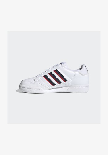 CONTINENTAL 80 3 STRIPES SHOES - Zapatillas - ftwr white/collegiate navy/vivid red