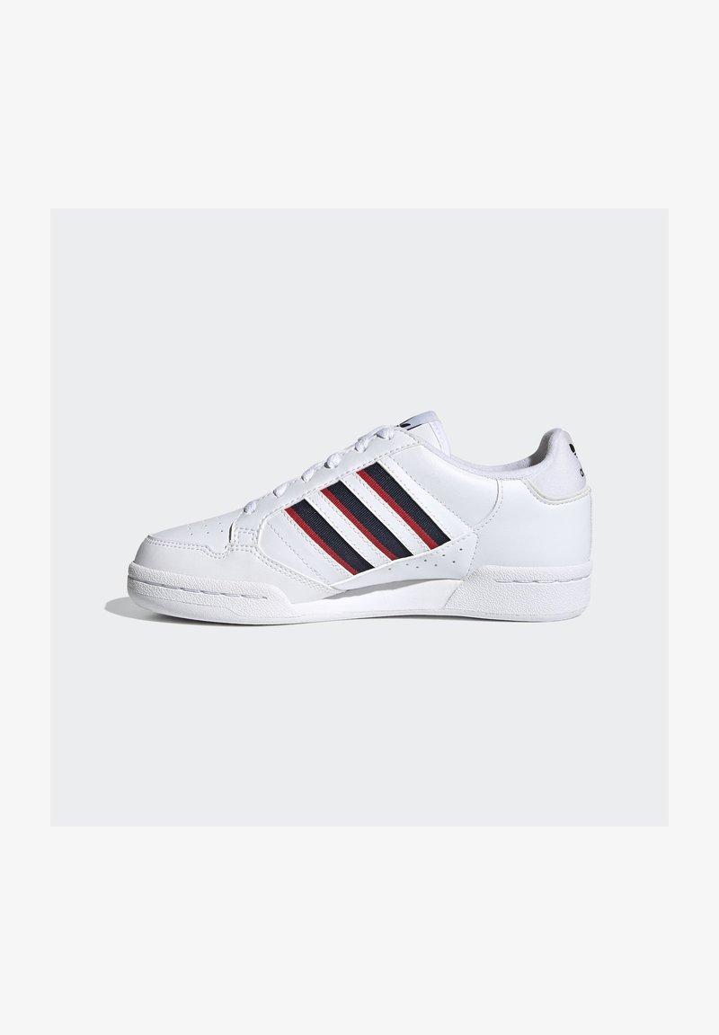 adidas Originals - CONTINENTAL 80 STRIPES UNISEX - Sneakers laag - ftwr white/collegiate navy/vivid red