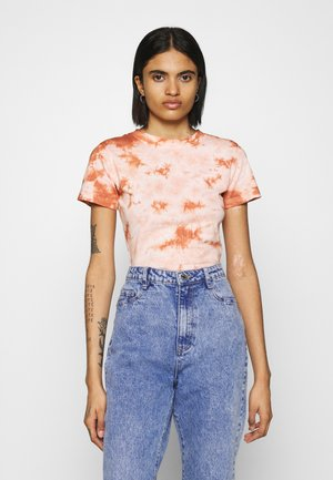 TIE DYE BODYSUIT - T-shirts med print - brown