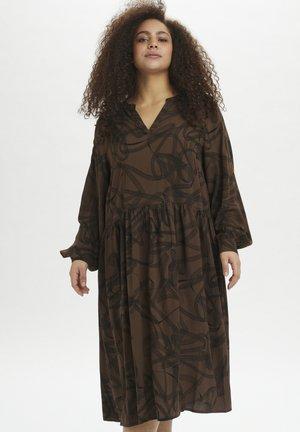 KCBILLA - Day dress - brown/black graphic