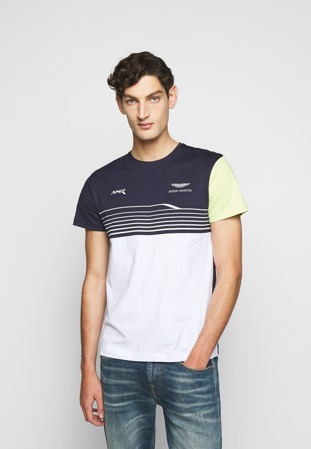 STRIPE TEE - T-shirt con stampa - navy/white