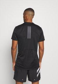 adidas Performance - HEAT.RDY TRAINING SLIM SHORT SLEEVE TEE - T-shirt print - black - 2