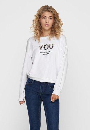 STATEMENT - Sweatshirt - bright white