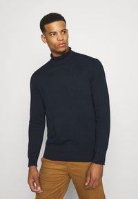 Burton Menswear London - FINE GAUGE ROLL  - Maglione - navy - 0