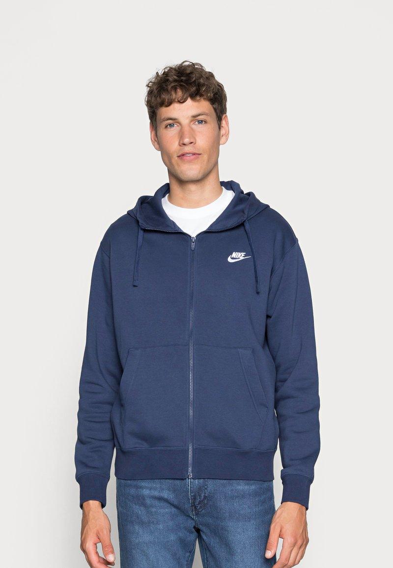 Nike Sportswear - CLUB HOODIE - Sweatjakke - midnight navy/white