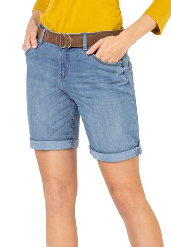 SUBLEVEL BERMUDA  - Denim shorts - light-blue