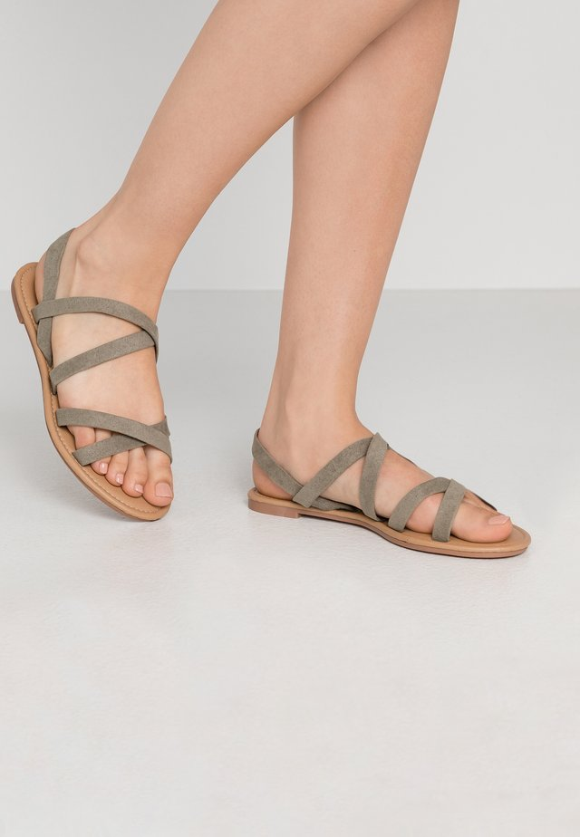 EVERYDAY STRAPPY SLINGBACK - Sandals - khaki