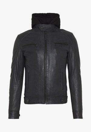 ERIC HOOD - Leren jas - black