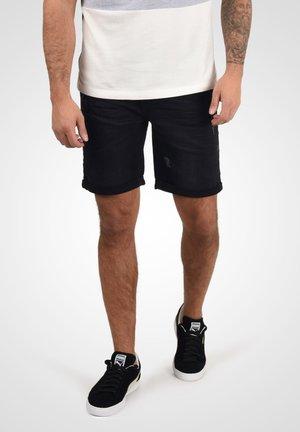 LUKE - Denim shorts - black denim