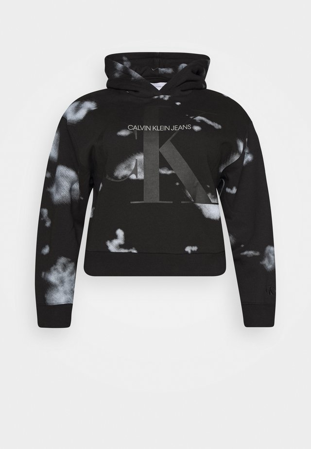 CLOUD WASHED HOODIE - Hoodie - black