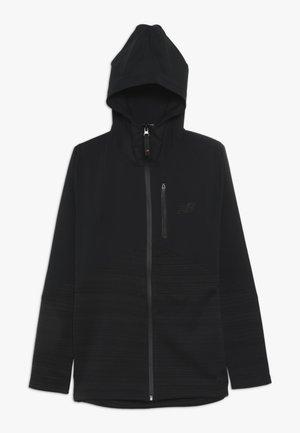JUNIOR FULL ZIP VECTOR SPEED TOP - Sportovní bunda - black