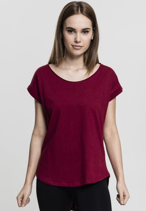 SLUB TEE - Camiseta básica - burgundy