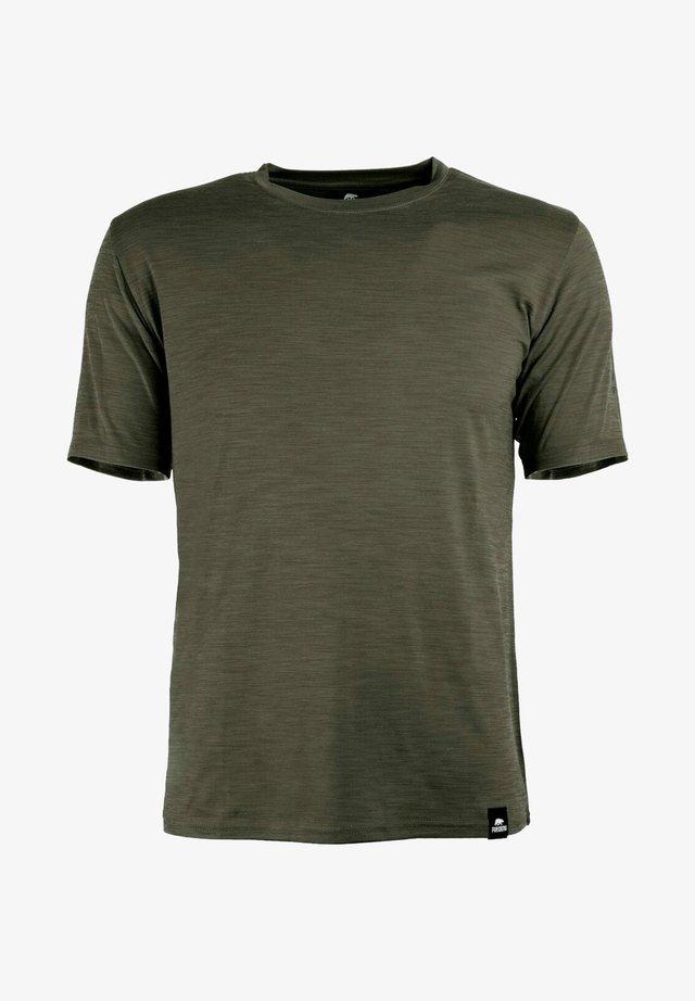 SVETTSON FUNKTIONELLES ANTIBAKTERIELL - Basic T-shirt - olive