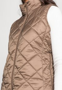 Marc O'Polo - VEST STAND UP COLLAR FRONT ZIPPER - Waistcoat - nutshell brown - 4