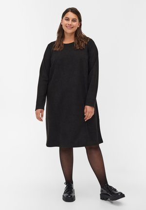 3/4 SLEEVE  - Jumper dress - black