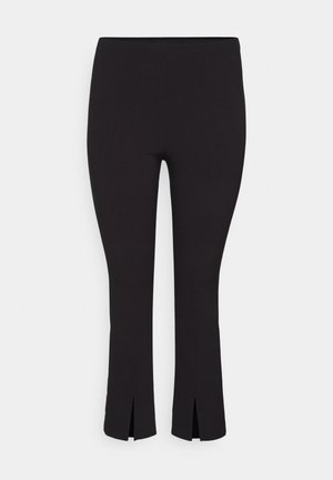 VMVICTORIA SLIT PANT CURVE - Kalhoty - black