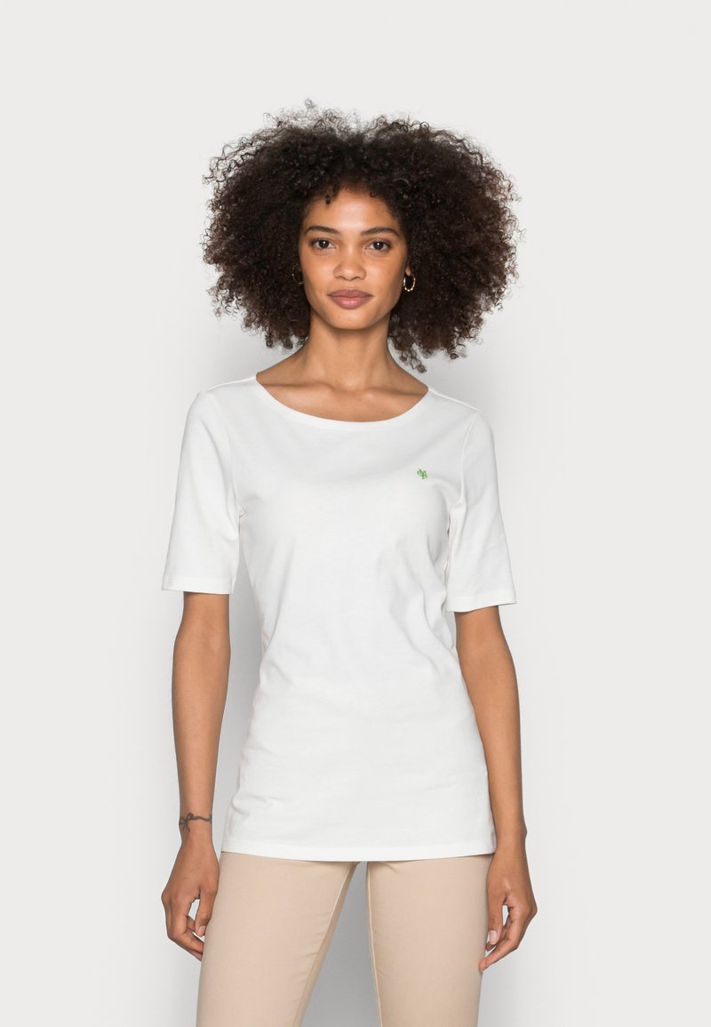 Marc O'Polo - SHORT SLEEVE ROUND NECK - Basic T-shirt - white
