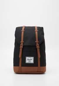 Herschel - RETREAT - Rucksack - black/saddle brown - 0