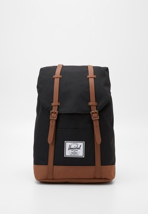 RETREAT - Zaino - black/saddle brown
