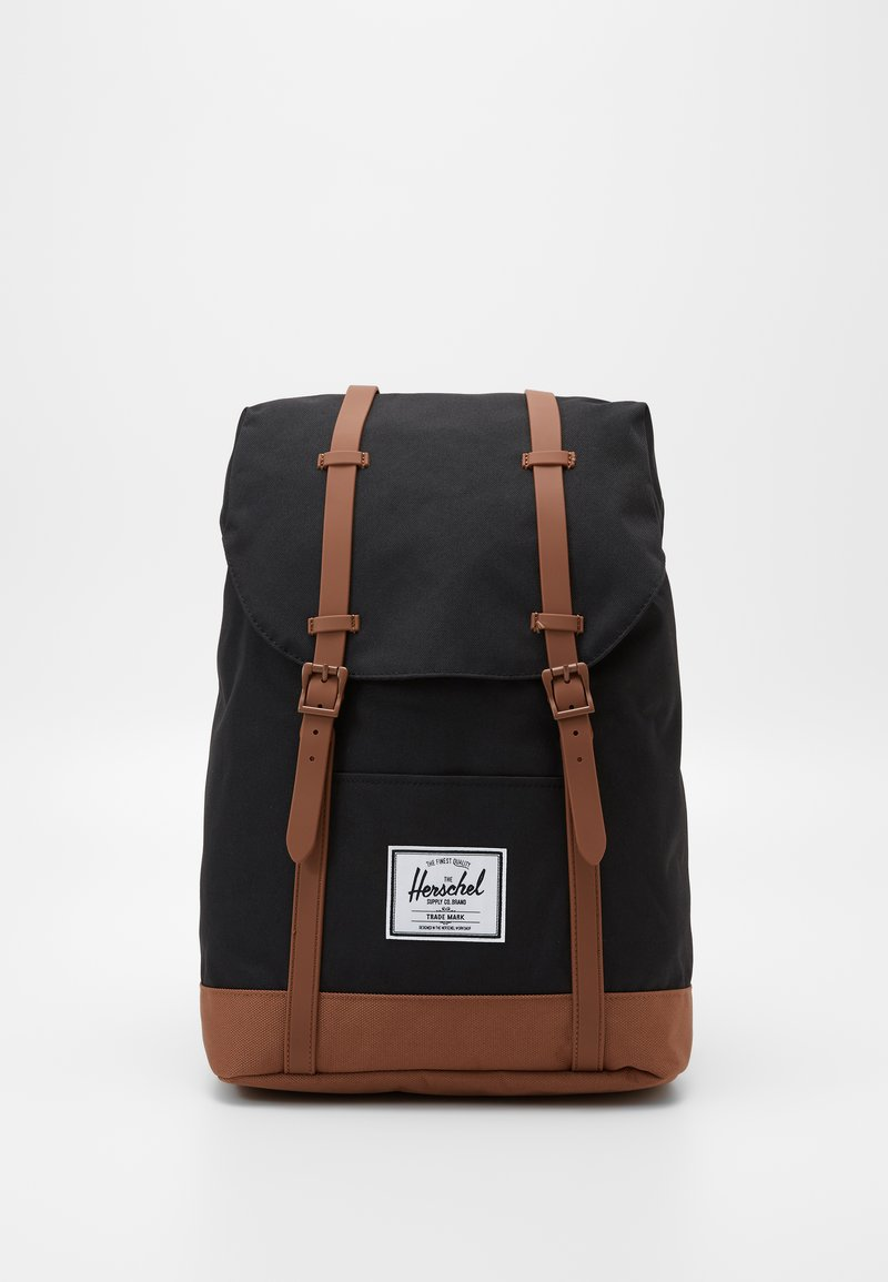 Herschel - RETREAT - Rucksack - black/saddle brown
