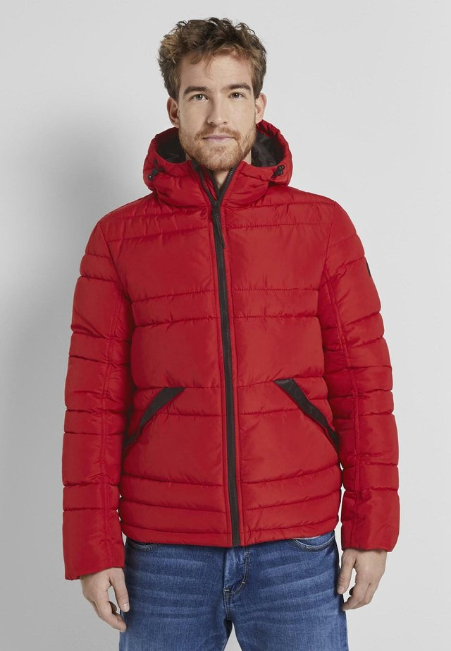 PUFFER JACKET WITH HOOD - Winter jacket - mighty red