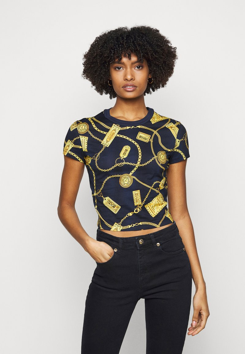 Versace Jeans Couture - Triko spotiskem - navy