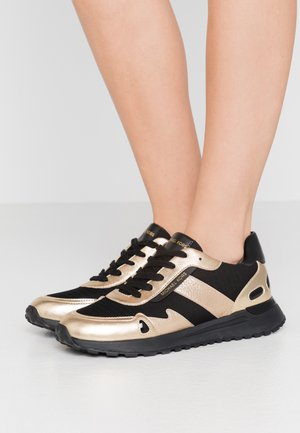 MONROE TRAINER - Sneakersy niskie - black/pale gold