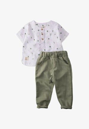 Kalhoty - off-white/green