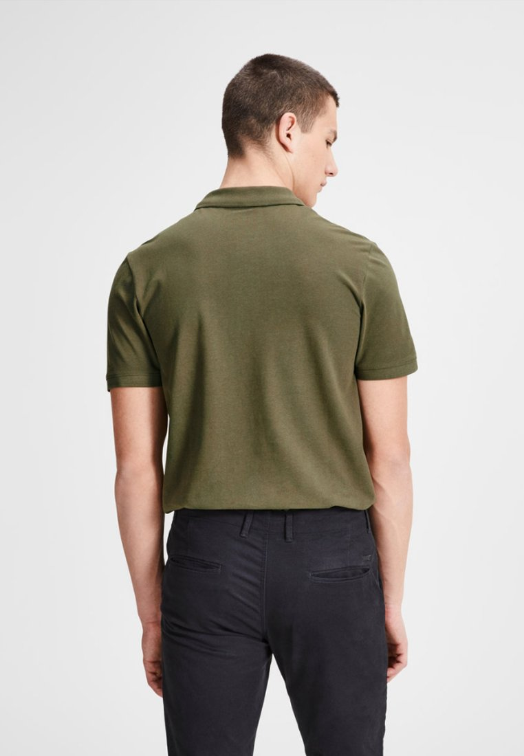 Jack & Jones JJEBASIC - Polo shirt - olive night C1zZb