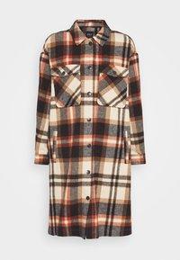 ONLY - ONLELLENE VALDA LONG CHACKET - Classic coat - blue/red - 4