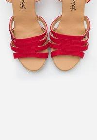 Kaporal - MONTY - High heeled sandals - rouge - 5