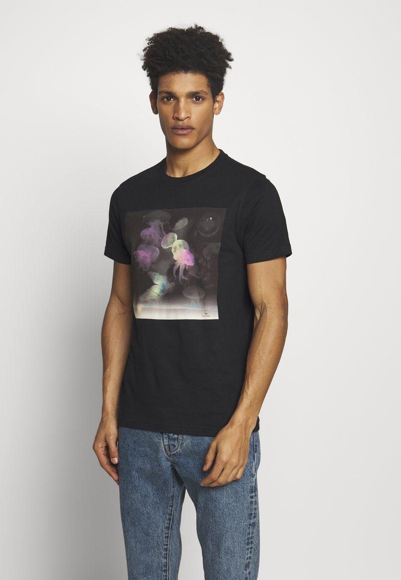 PS Paul Smith - SLIM FIT JELLYFISH - T-shirts print - black