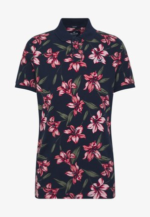 HERITAGE FLORAL PRINT - Polo - navy / pink