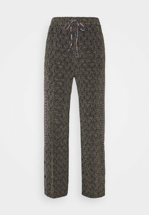TROUSERS - Pantaloni - black/silver/gold