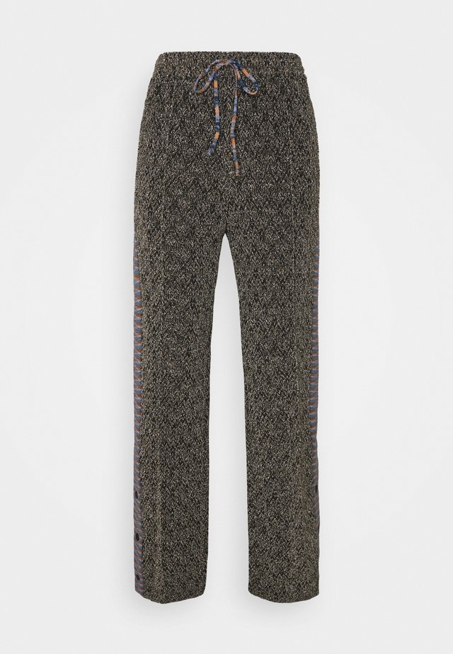 TROUSERS - Bukser - black/silver/gold