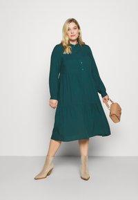 Vero Moda Curve - VMVICA CALF DRESS - Day dress - sea moss - 1