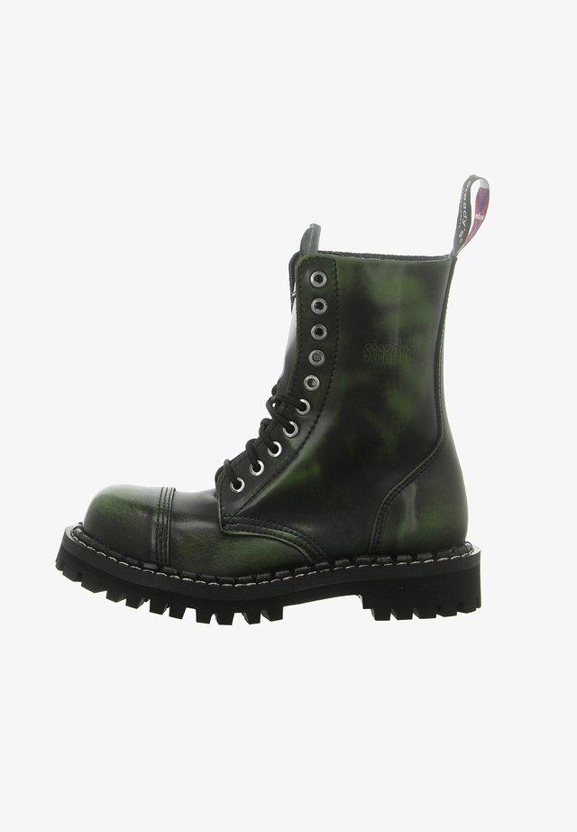 Platform boots - black/khaki