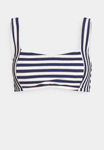 STRIPES - Bikini top - blue