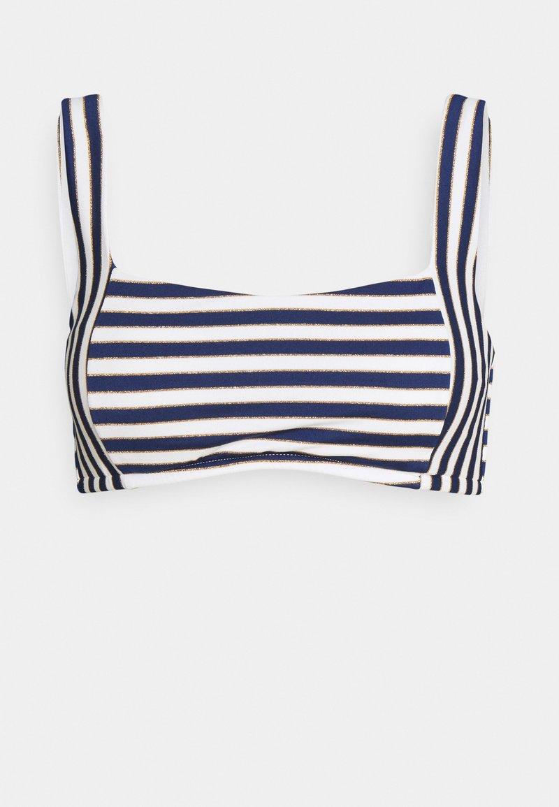 Women Secret - STRIPES - Bikini top - blue