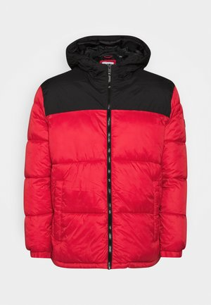 JJDREW PUFFER HOOD - Winter jacket - tango red